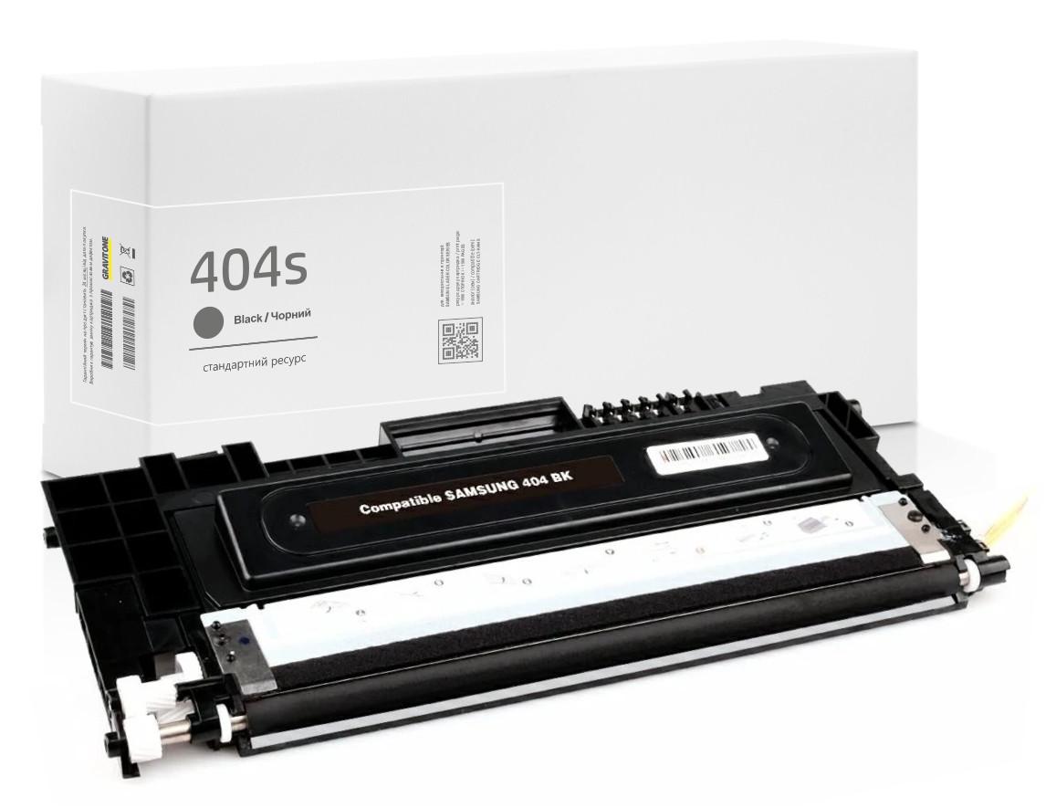 Совместимый картридж Samsung CLT-K404S Black (404S) , чёрный, 1.500 копий, аналог от Gravitone