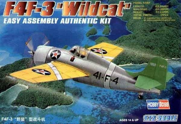 F4F-3 WILDCAT. Сборная модель самолета. 1/72 HOBBY BOSS 80219, фото 2