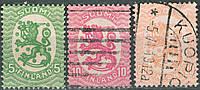 Фінляндія 1917-1918 Sc#83, 85, 88
