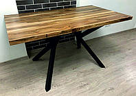 """Стол из натурального дерева в стиле Лофт """"Walnut"""""""