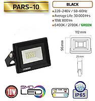 """Прожектор SLIM YT-10W COB, 800Lm, 6400K IP65(влагозащита) """"HOROZ"""" PARS-10"""