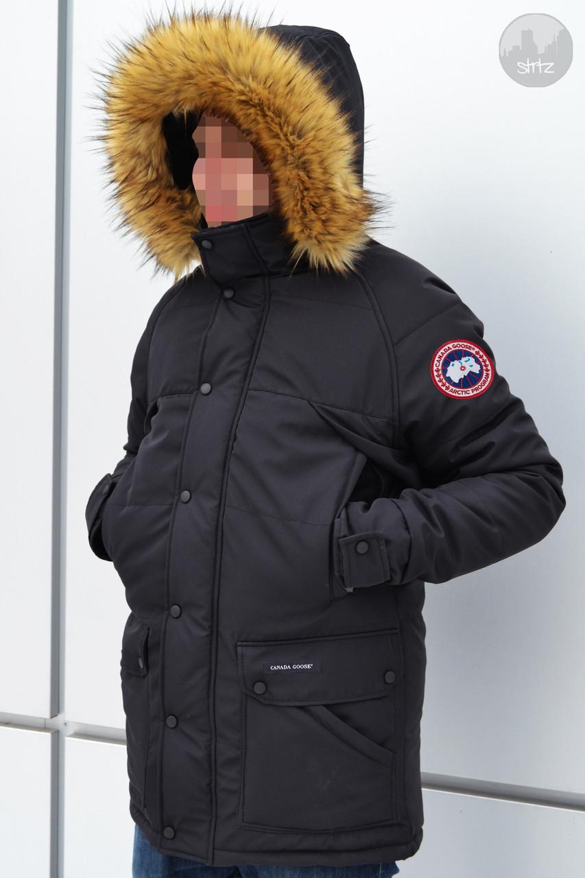 Мужская зимняя парка Canada Goose Emory Parka черная
