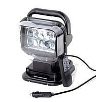 """Фароискатель LED 12/24V 50W  """"CH 001"""" 360°- корпус пластик - черный - пульт - в прикурку  3052"""