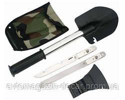 Лопата  саперная 5 в 1 T40-1 (Топор+Нож+Ножовка+Саперка+Чехол) L=35cm(рукоятки)