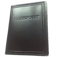 """Обложка для паспорта """"PASSPORT"""" (черная)"""