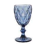 """Набор бокалов синие 6 шт, 250 мл """"Изумруд"""" ( бокалы для вина ), фото 2"""