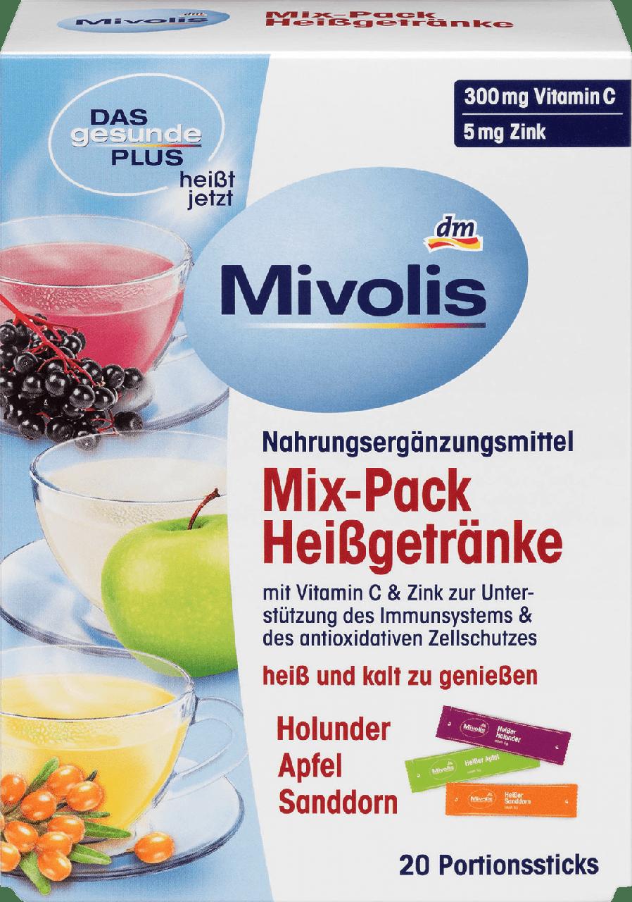Горячий напитокот простуди Mivolis Mixpack Holunder, Apfel und Sanddorn, 20 шт.