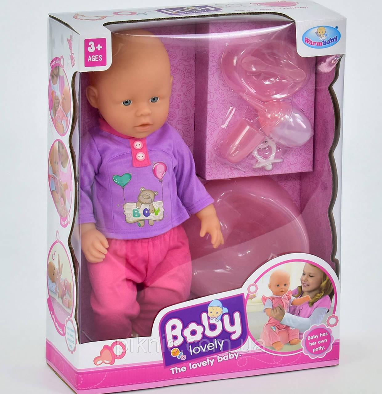 Пупс функциональный для девочки с аксессуарами. Пупсик интерактивный, кукла, куколка, игрушка для девочек