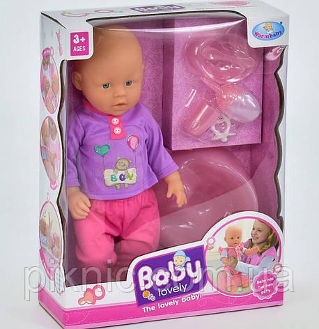 Пупс функциональный для девочки с аксессуарами. Пупсик интерактивный, кукла, куколка, игрушка для девочек, фото 2