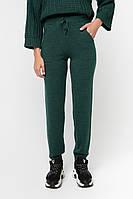 Женские теплые зеленые штаны (46-48, темно-зеленый)