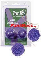 Силиконовые вагинальные Шарики гейши увеличивают оргазм Фиолетовые блистер ToyJoy