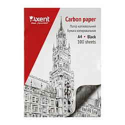Папір копіювальний A4, 100 арк., чорний Axent