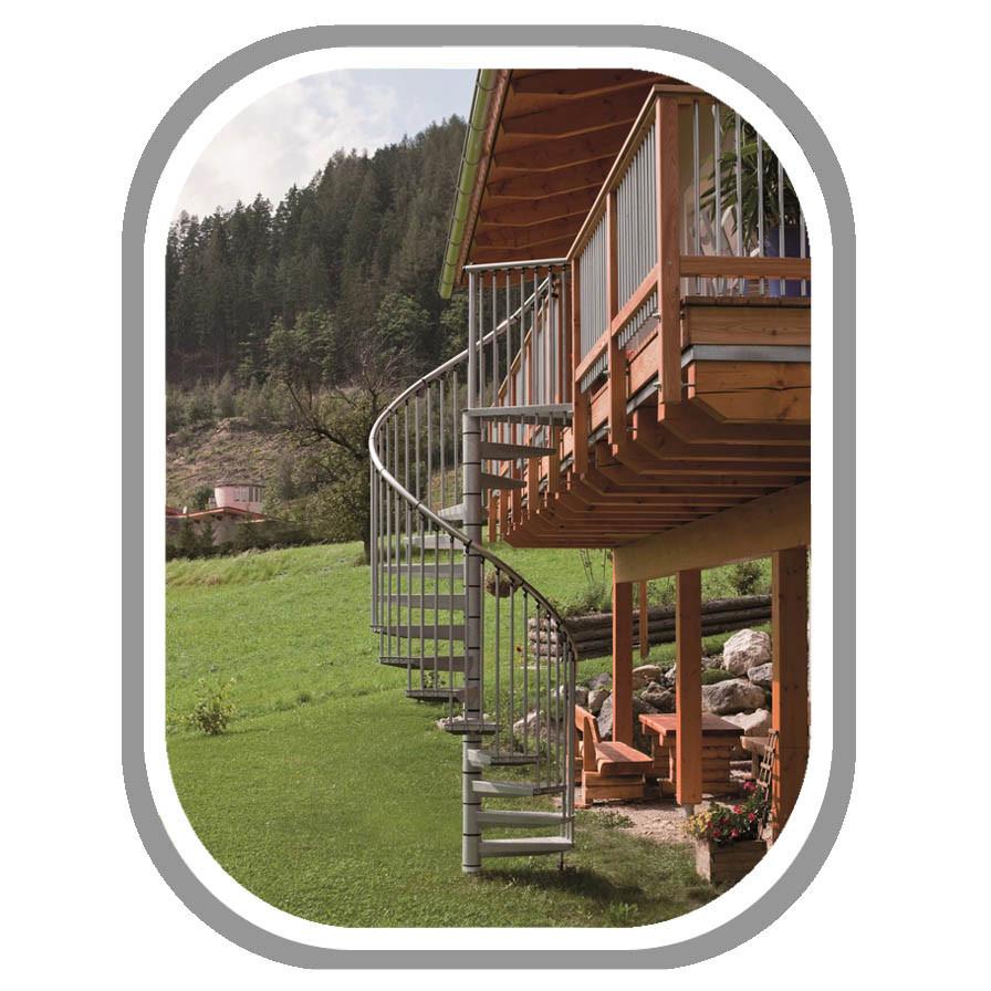Металлическая лестница на второй этаж Rondo Zink Plus Минка Австрия