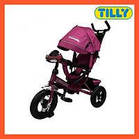 Велосипед трехколесный TILLY CAMARO (T-362 Фиолетовый), металлическая рама, музыкальная фара, Тили Камаро