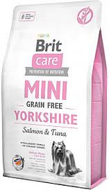 Сухой корм для йоркширских терьеров Brit Care Mini Grain Free Yorkshire с лососем и тунцом 7 кг