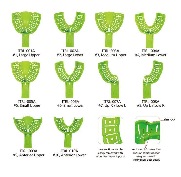 Ложки відбиткові пластикові, 10 шт. автоклавуючі