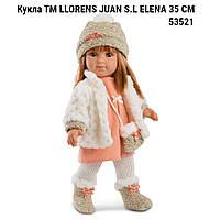 Кукла испанская Llorens  53521 ТМ LLORENS JUAN S.L Елена  производство Испания ELENA 35 СМ