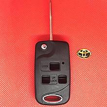 Корпус выкидного ключа для Toyota (Тойота) 3 кнопки TOY43 для переделки