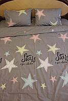 ПОЛУТОРНОЕ постельное Звезды Хлопок Люкс