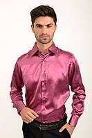 Мужская рубашка с длинными рукавами, нарядная 113RPass003 цвет Фуксия