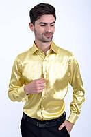 Мужская рубашка с длинными рукавами, нарядная 113RPass003 цвет Бледно-желтый