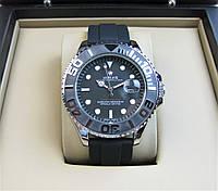 Годинник Rolex Yacht-Master 42mm Quartz Silver/Black. Replica, фото 1
