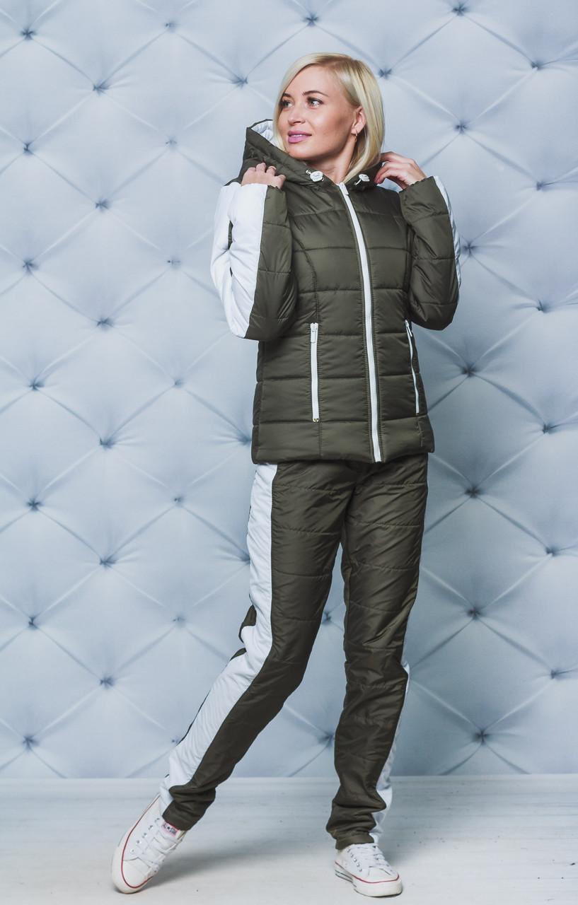 Женский зимний спортивный костюм хаки