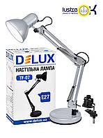 Настольная лампа для учебы Настольная лампа DELUX TF-07_E27 серебро