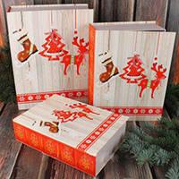 Коробка Новогодняя книга №2 малая (23*16.5*6 см)