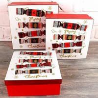 Коробка Новогодняя конфета малая (21*21*9 см)