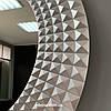 Зеркало круглое с LED подсветкой c обратной стороны в серебряной раме Madrid, фото 9
