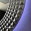 Зеркало круглое с LED подсветкой c обратной стороны в серебряной раме Madrid, фото 4