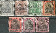 Германия 1902 - Sc#65c-67, 70, 72, 73