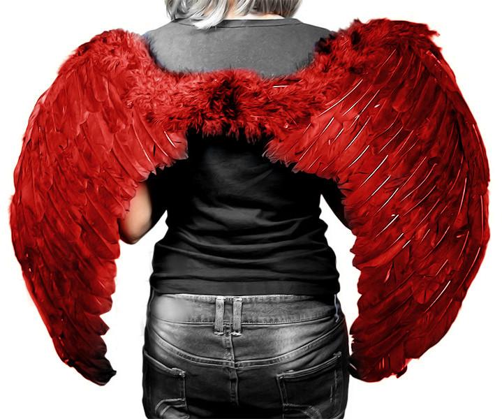 Крылья Ангела Большие 40х60 см (красные)