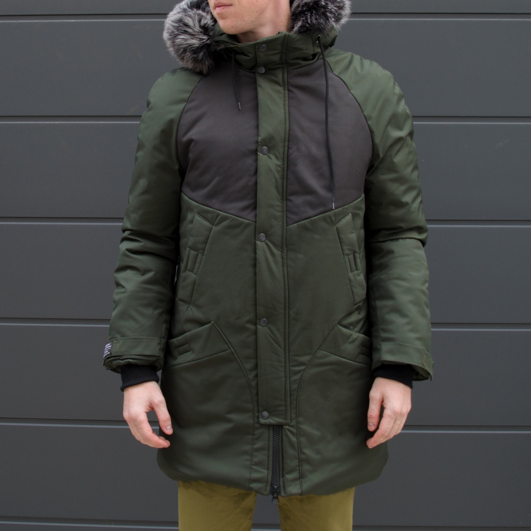 Зимняя куртка парка мужская хаки водоотталкивающая Taranis  от бренда ТУР