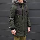 Зимняя куртка парка мужская хаки водоотталкивающая Taranis  от бренда ТУР, фото 7