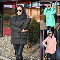 Зимова молодіжна жіноча куртка з капюшоном 20331, фото 1