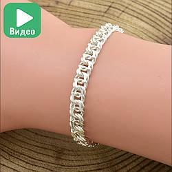 """Серебряный браслет """"Турецкий Бисмарк"""", длина 19 см, ширина 5 мм, вес серебра 6.25 г"""
