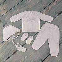 Нарядный комплект одежды на крестины для мальчика (интерлок), р. 74-80