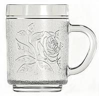 """Чашка стеклянная Uniglass 260  мл. """"Roses""""для горячих напитков"""