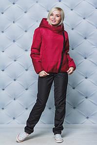 Женский зимний костюм бордо