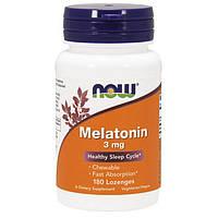 Мелатонин NOW Melatonin 3 mg (180 табл) нау