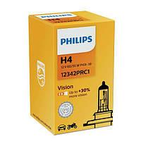 """Лампа 12V H4  60/55W + 30% Premium """"Philips"""" (1шт)  (12342PRC1) (10шт/уп)"""