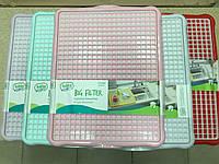 Поднос с решеткой для сушки посуды  43,5х34,5х1,5 см