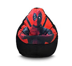 "Кресло мешок груша ""Deadpool"" Флок"