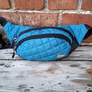 Бананка Angel стёганая женская два отдела сумка на пояс барыжка, фото 2