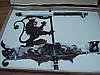 Флюгер ветроуказатель Лев с флагом из металла для крыши. Подарок мужчине для загородного дома, фото 3