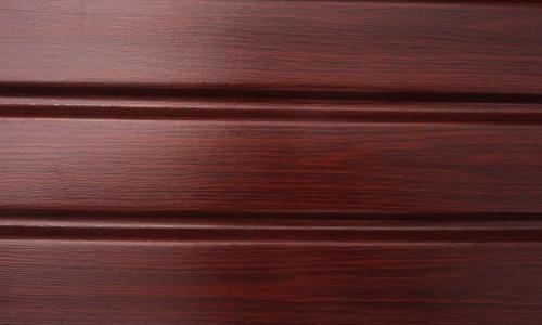Подшивочный виниловый сайдинг Соффит ПВХ красное дерево, Подшивка свесов крыши материалы ASKO Польша