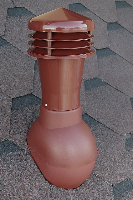 Вентиляционная труба для плоской кровли (битумной кровли)