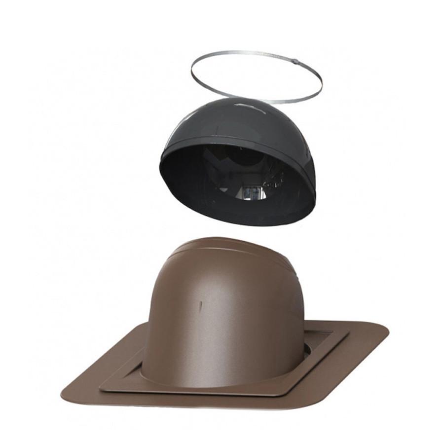 Проходной элемент Pipuu №1 200 - 265 мм для герметичного вывода через кровлю круглых дымоходных труб